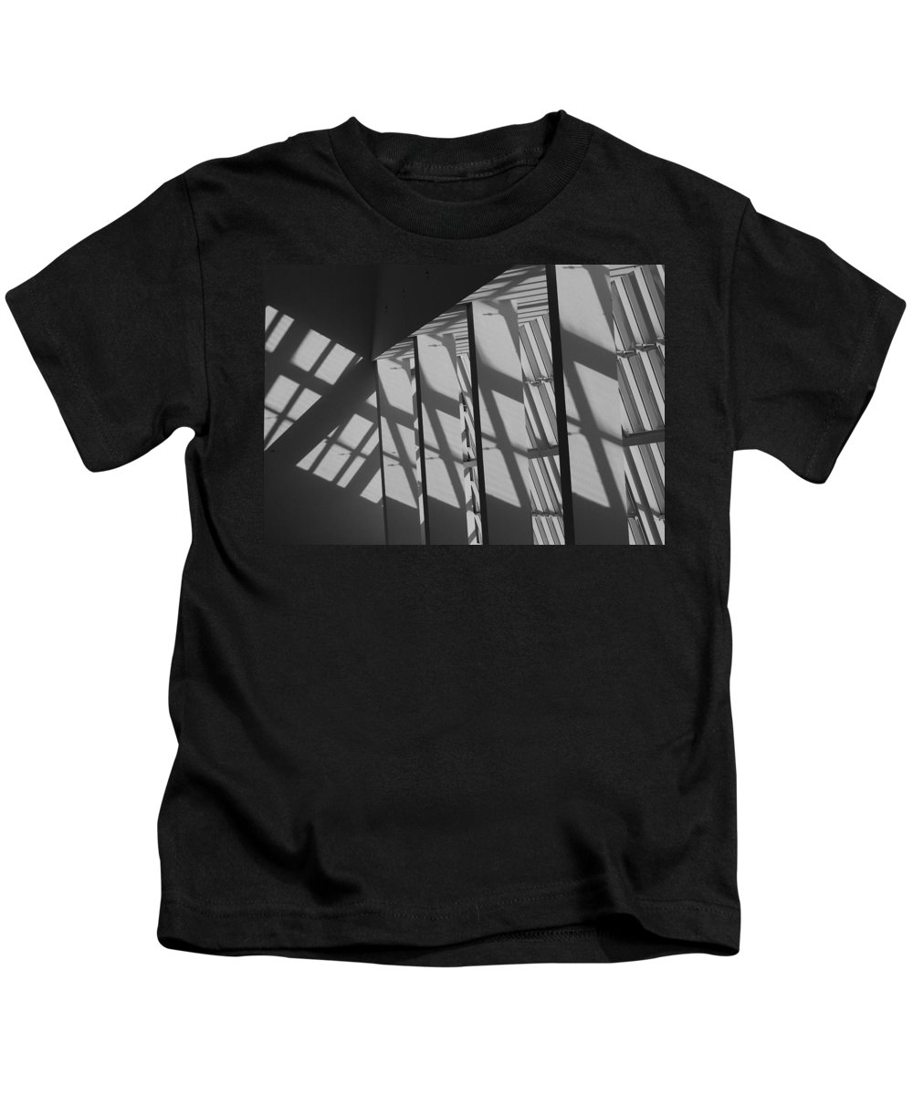 Shades Kids T-Shirt featuring the photograph Asylum Windows by Rob Hans