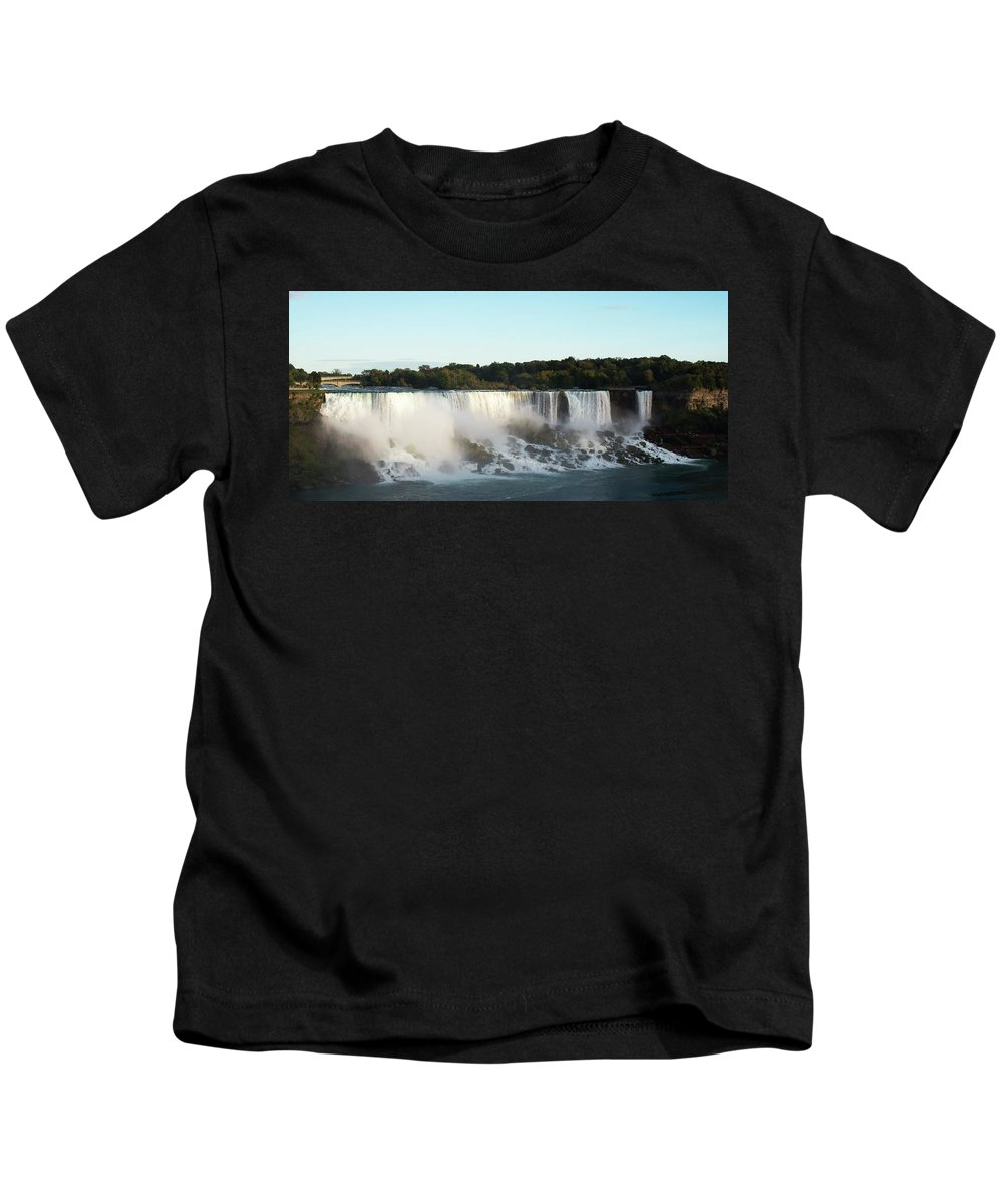 Canada Kids T-Shirt featuring the photograph At Dusk by Priit Einbaum