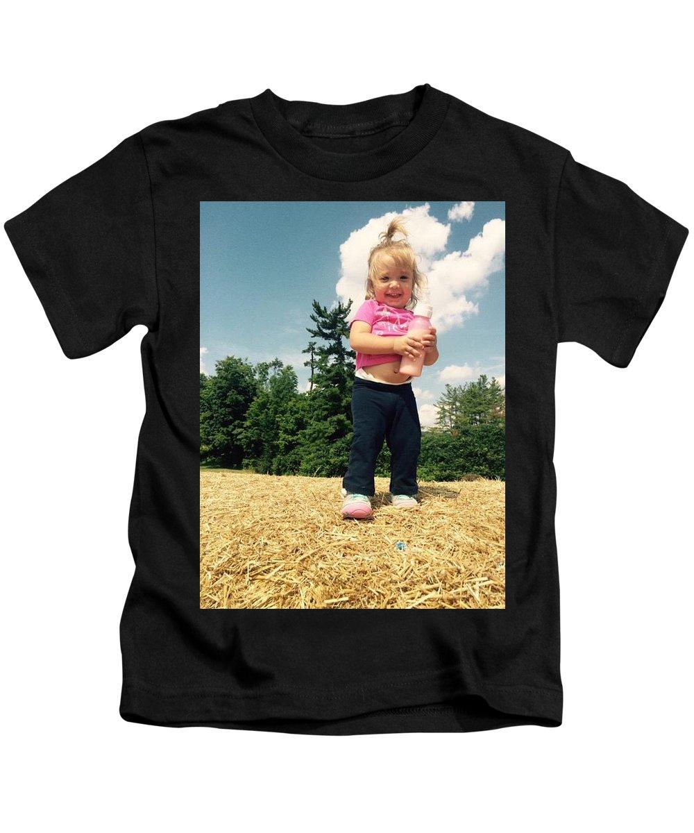 Kids T-Shirt featuring the photograph At Ease by Maayan Nahman
