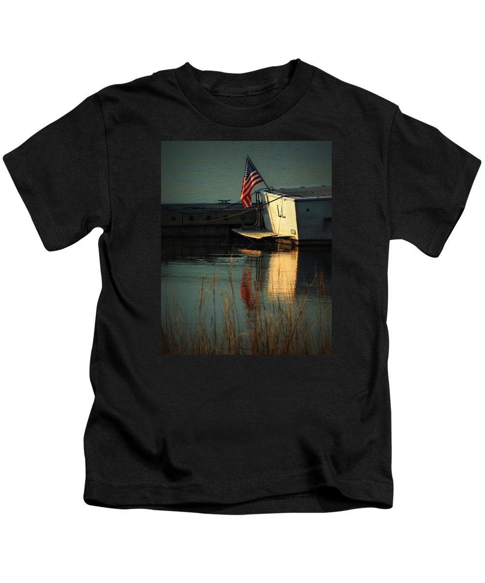 Patriotic Kids T-Shirt featuring the photograph At Peace by Laura Ragland