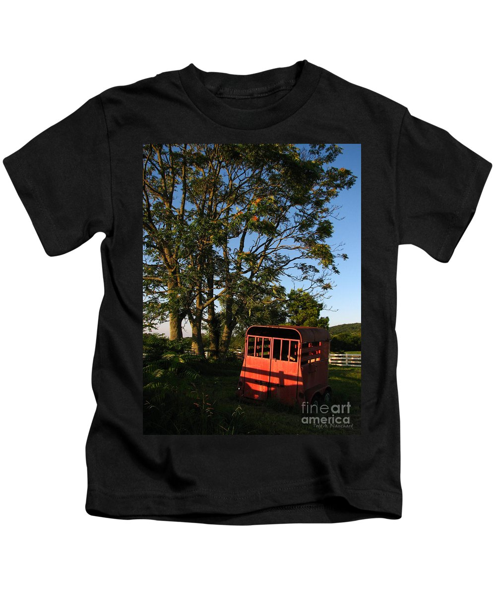 Landscape Kids T-Shirt featuring the photograph At Rest by Todd Blanchard
