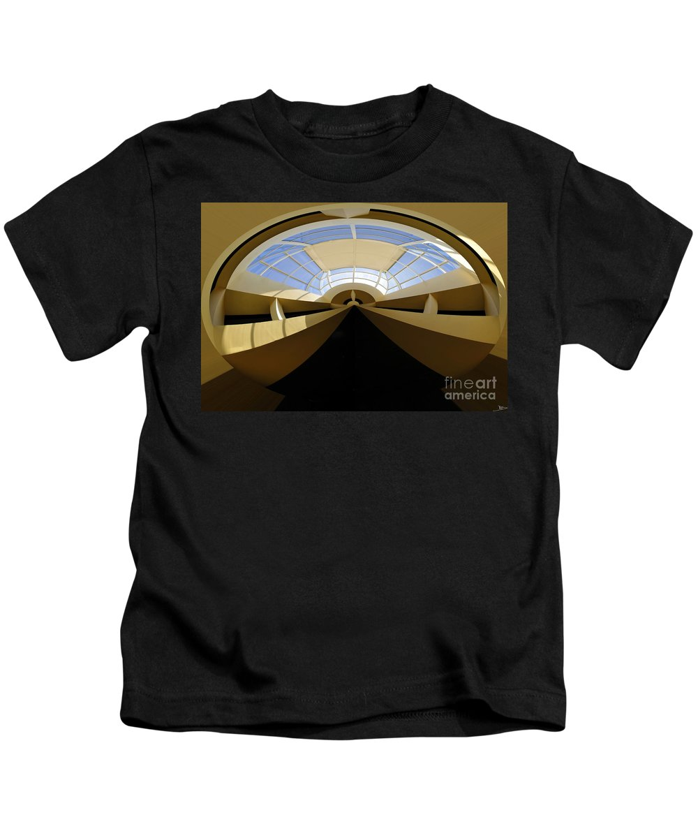 Art Kids T-Shirt featuring the painting At The End Of The Tunnel by David Lee Thompson
