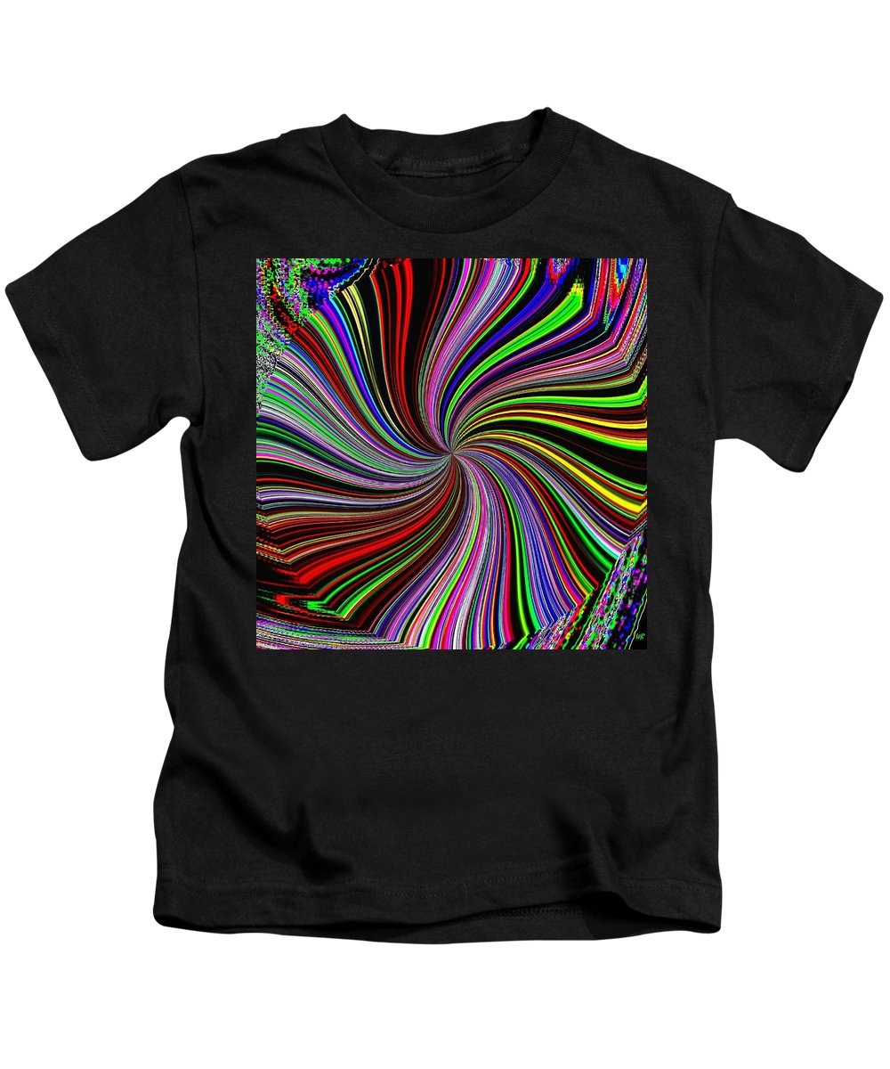Abstract Kids T-Shirt featuring the digital art Attitude by Will Borden