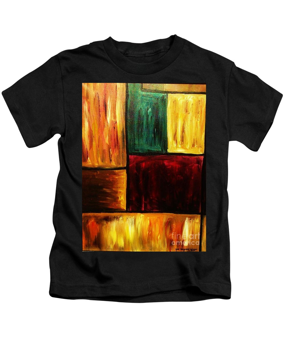 Abstract Kids T-Shirt featuring the painting Attractive by Yael VanGruber
