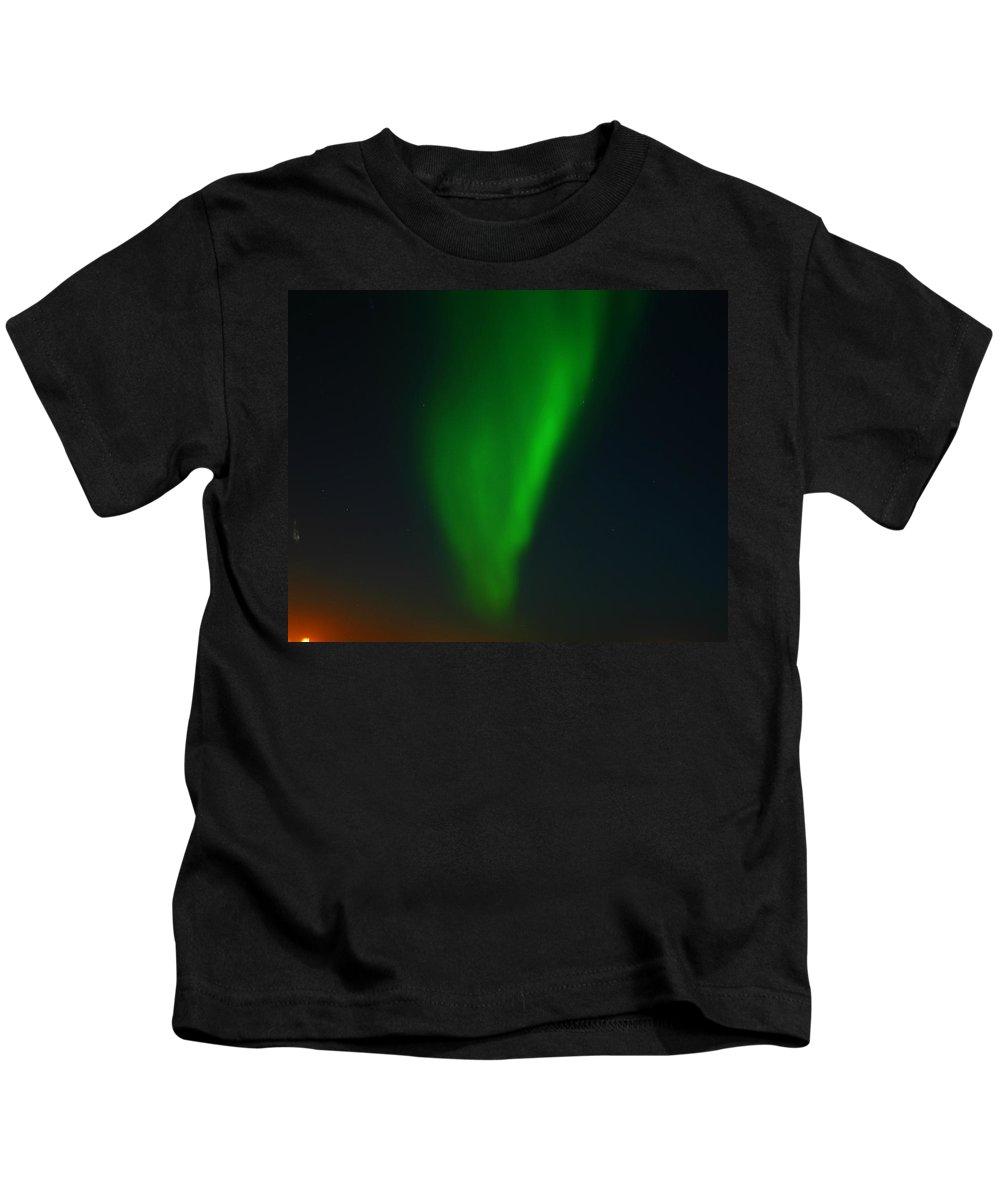 Aurora Borealis Kids T-Shirt featuring the photograph Aurora Borealis by Anthony Jones