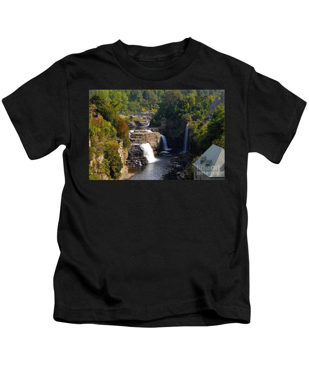 Ausable River Kids T-Shirt featuring the photograph Ausable Falls by David Lee Thompson