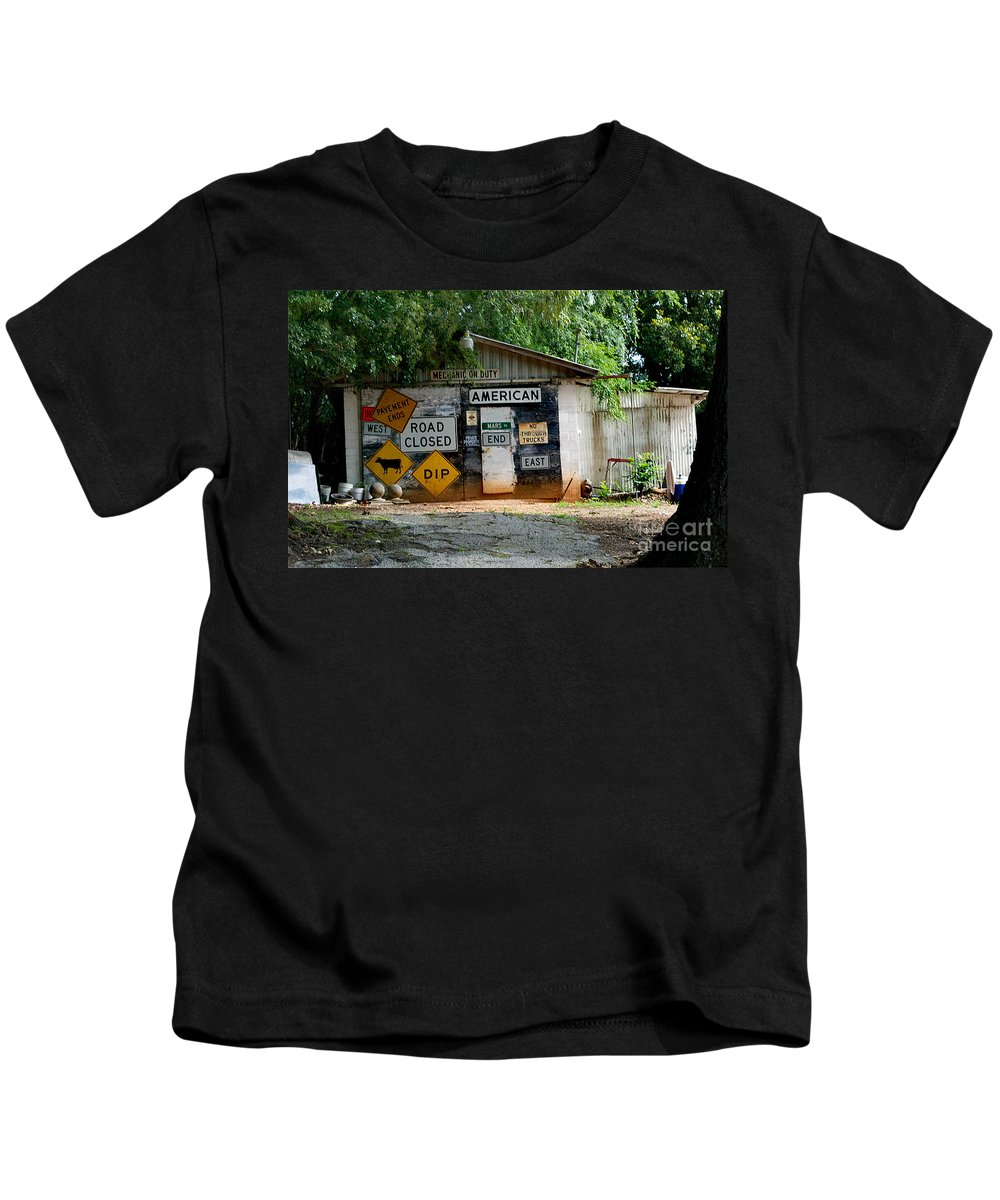 Car Kids T-Shirt featuring the photograph Auto Repair by Skip Willits