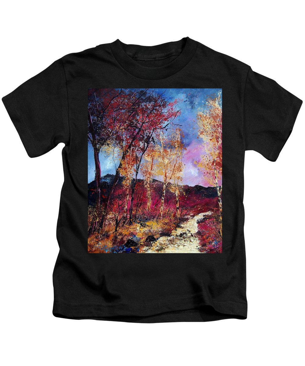 Landscape Kids T-Shirt featuring the painting Autumn 760808 by Pol Ledent