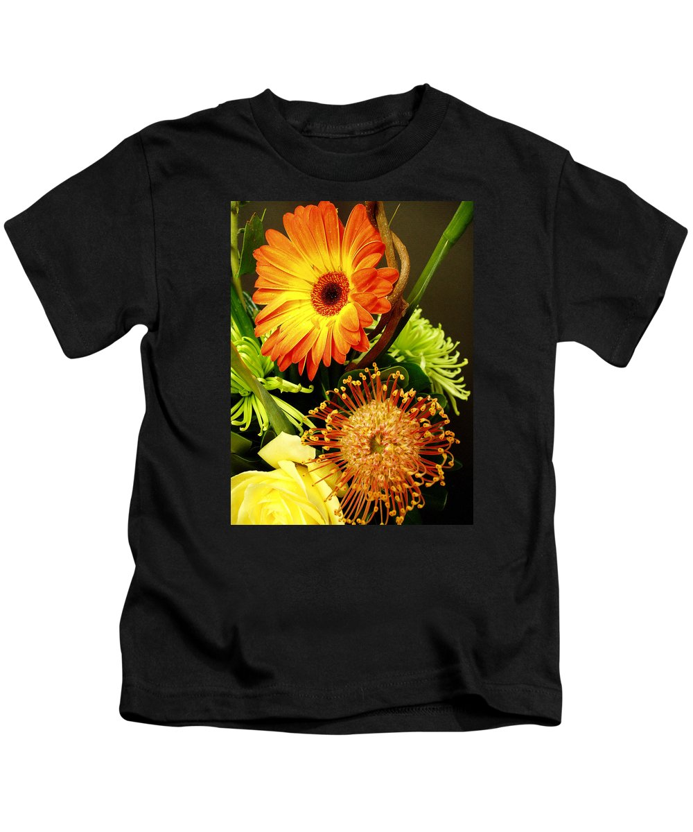 Autumn Kids T-Shirt featuring the photograph Autumn Flower Arrangement by Nancy Mueller