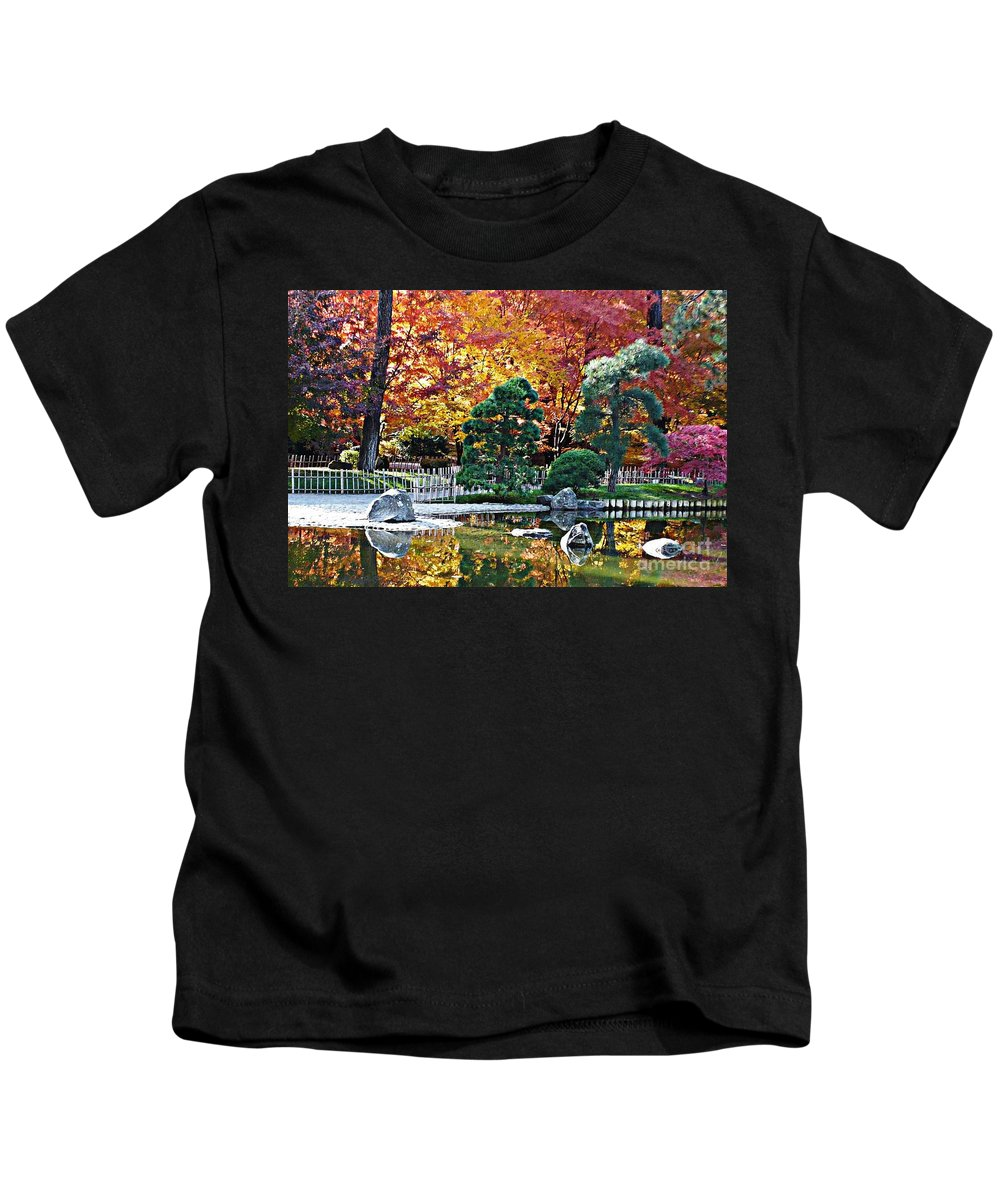 Autumn Kids T-Shirt featuring the photograph Autumn Glow In Manito Park by Carol Groenen