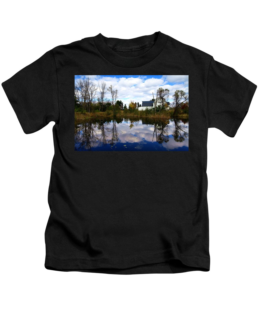Autumn Kids T-Shirt featuring the photograph Autumn Is Colorful by Paul Ge