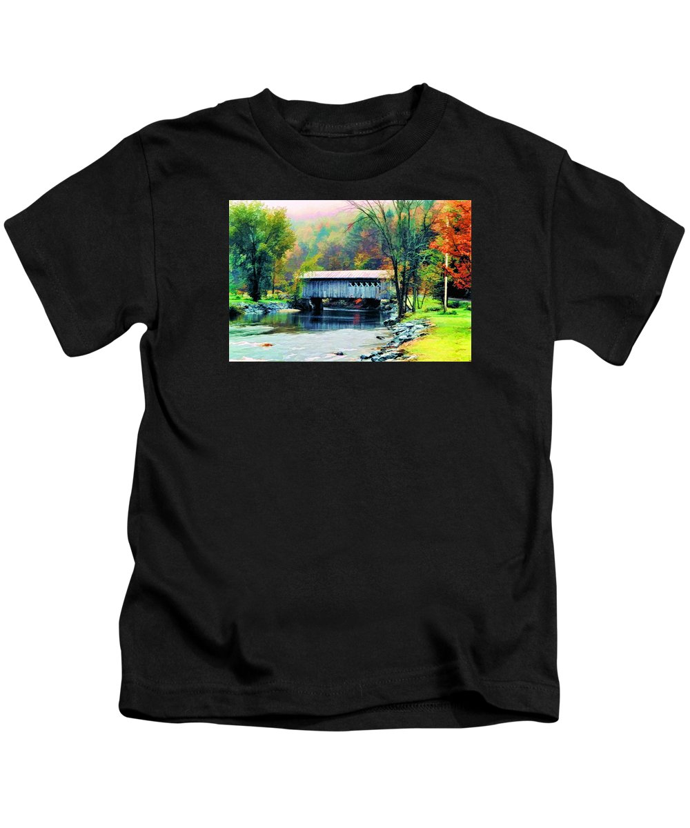 Covered Kids T-Shirt featuring the photograph Autumn Morning Mist 2 by Dan Dooley