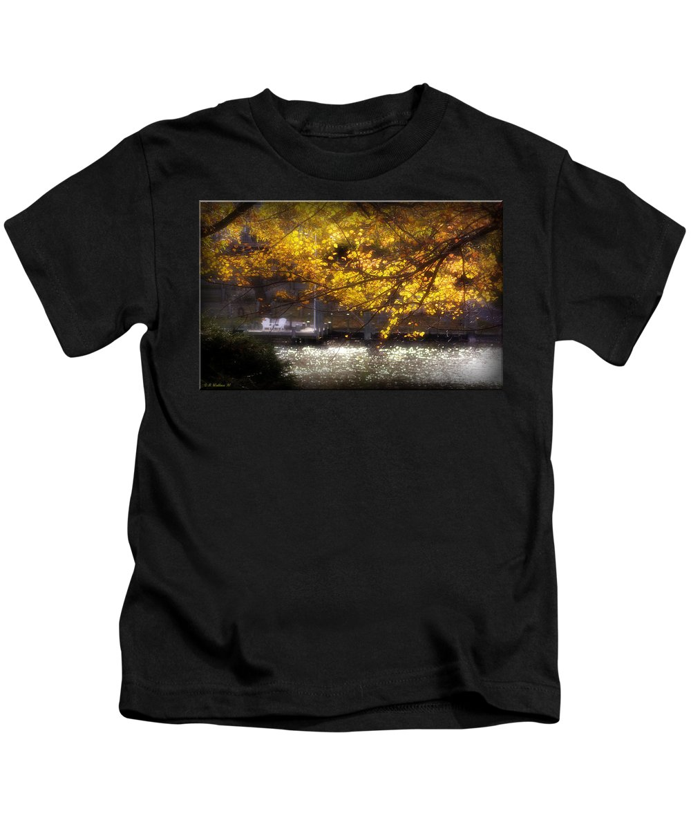 2d Kids T-Shirt featuring the photograph Autumn On The Cove by Brian Wallace
