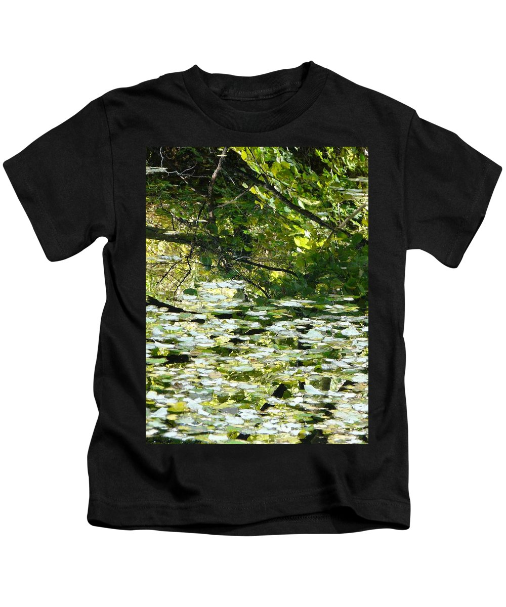 Pond Kids T-Shirt featuring the photograph Autumn Pond by Valerie Ornstein