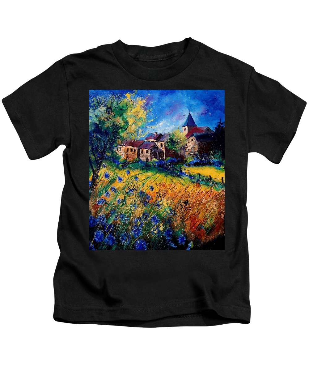 Tree Kids T-Shirt featuring the painting Awagne 67 by Pol Ledent