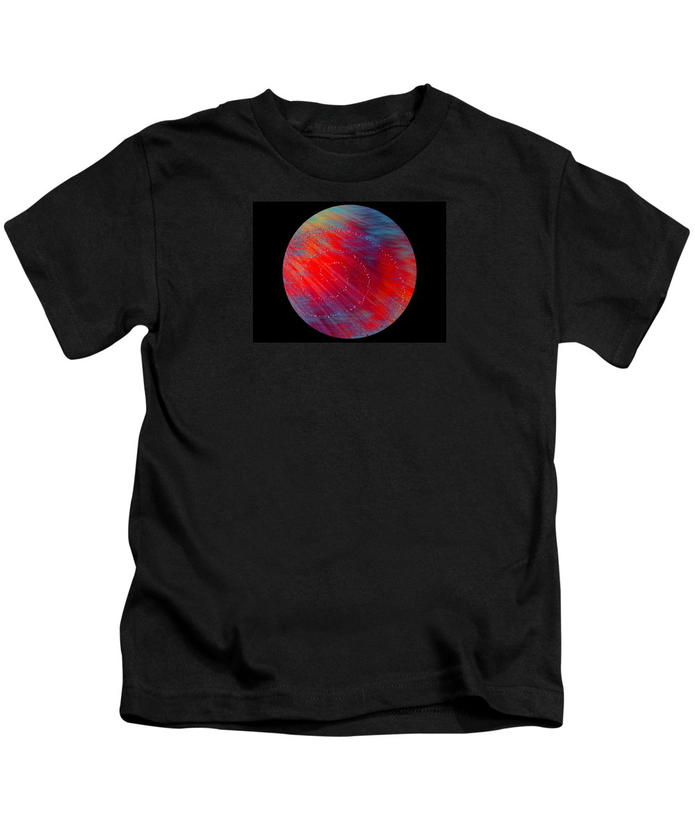 Planet Kids T-Shirt featuring the digital art Awakening Planet by Sheree Kennedy