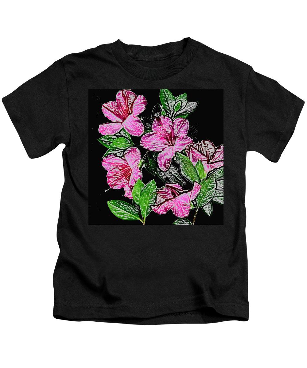 Azalea Kids T-Shirt featuring the photograph Azalea by Wayne Potrafka