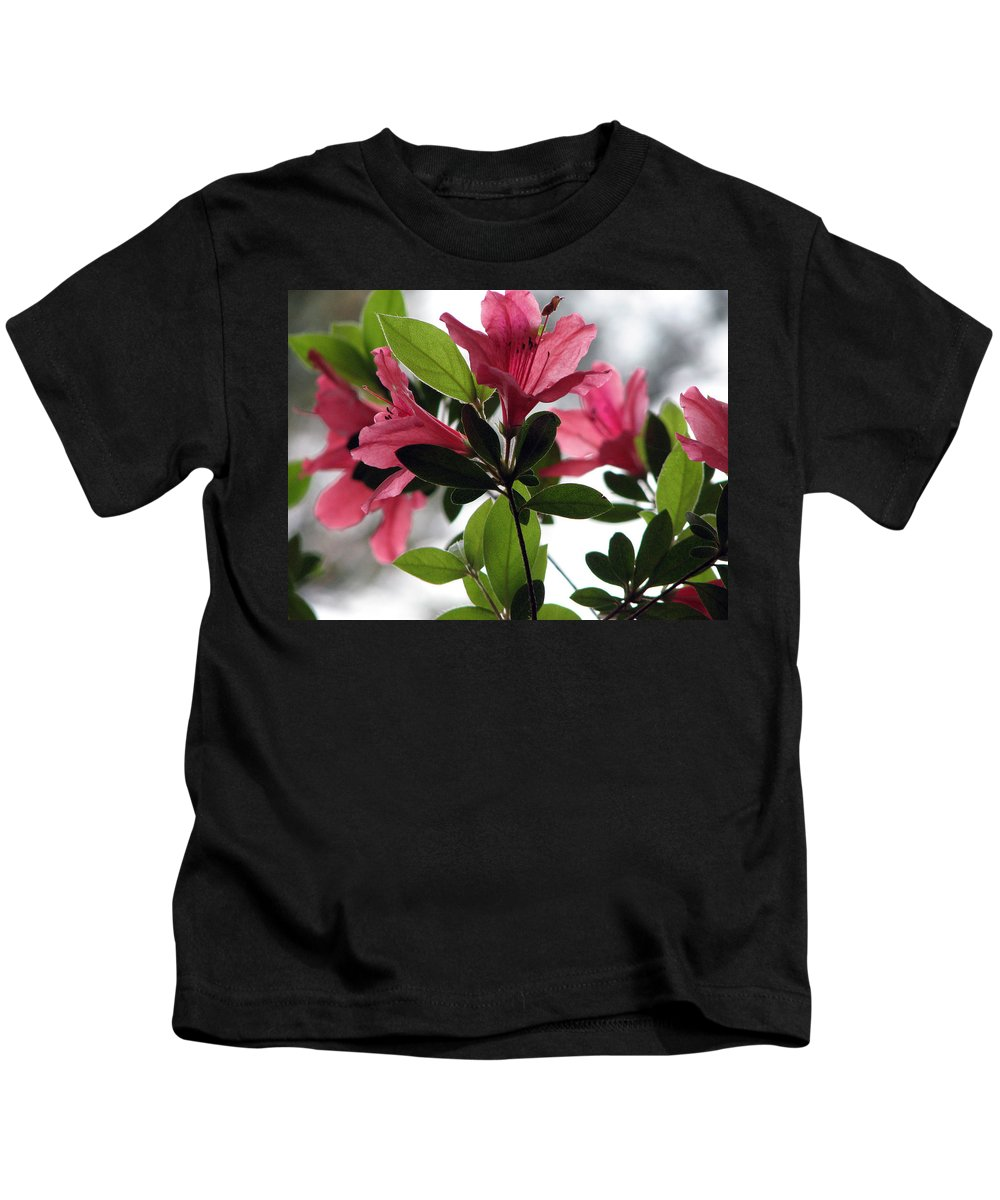 Azalea Kids T-Shirt featuring the photograph Azaleas Iv by Stacey May