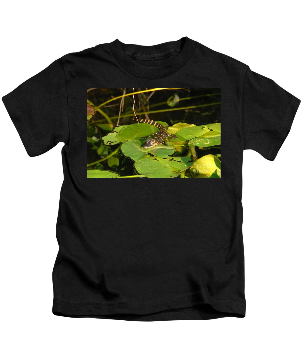 Baby Kids T-Shirt featuring the photograph Baby Alligator by David Lee Thompson