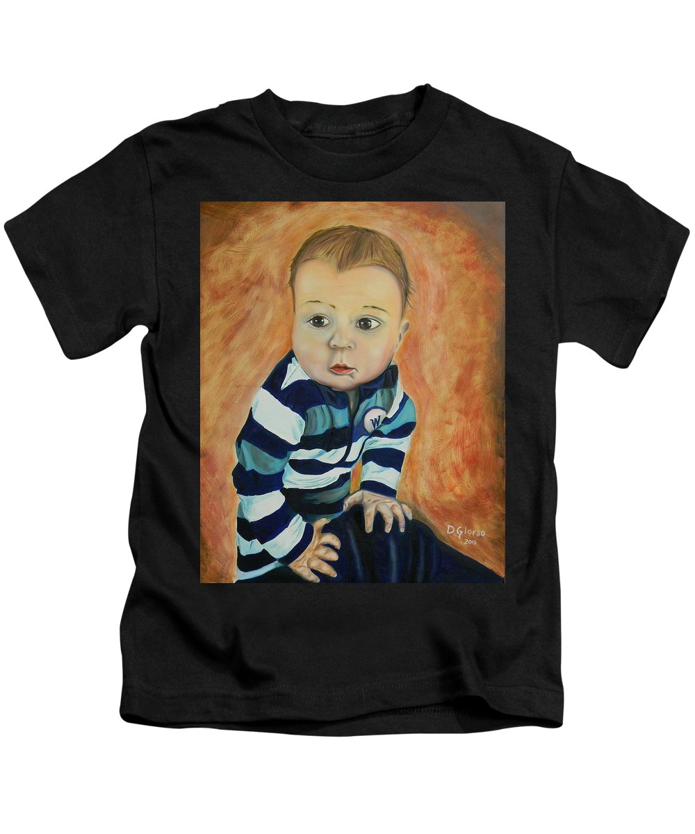 Glorso Kids T-Shirt featuring the painting Wes by Dean Glorso