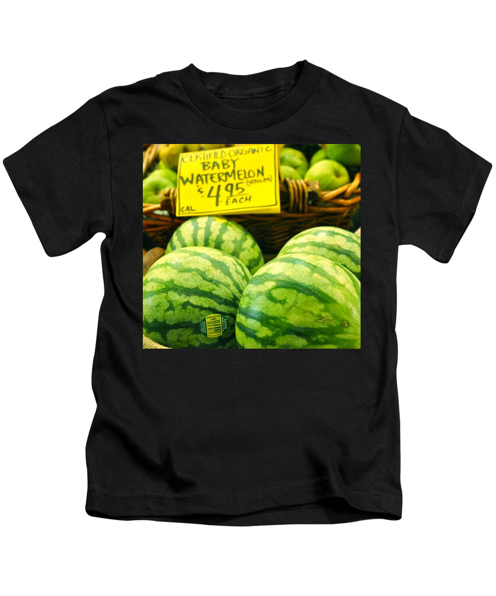 Baby Watermelons Kids T-Shirt featuring the photograph Baby Watermelons by Caroline Reyes-Loughrey