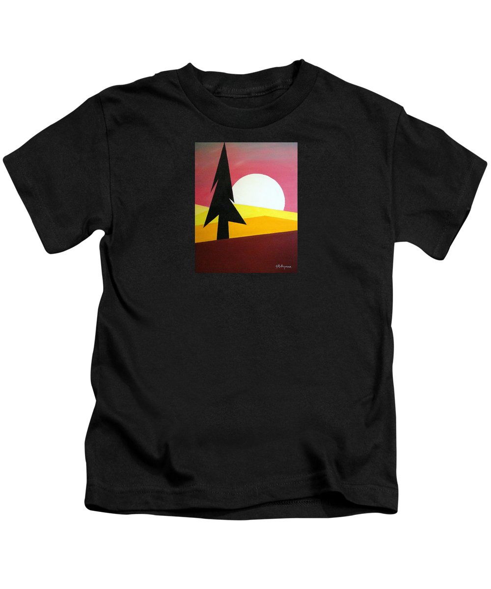 Impressionist Painting Kids T-Shirt featuring the painting Bad Moon Rising by J R Seymour