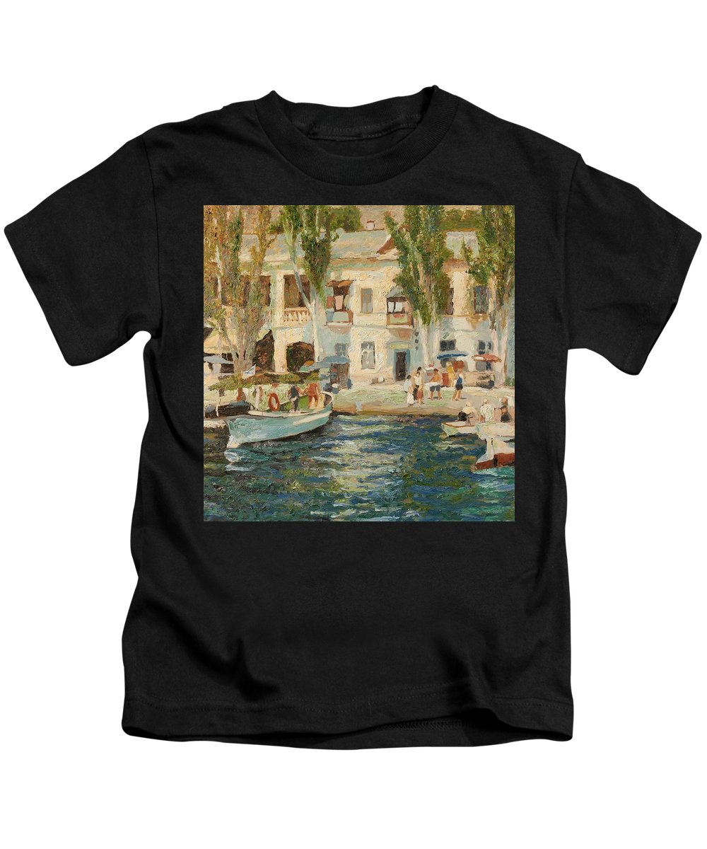 Landscape Kids T-Shirt featuring the painting Balaklava by Robert Nizamov