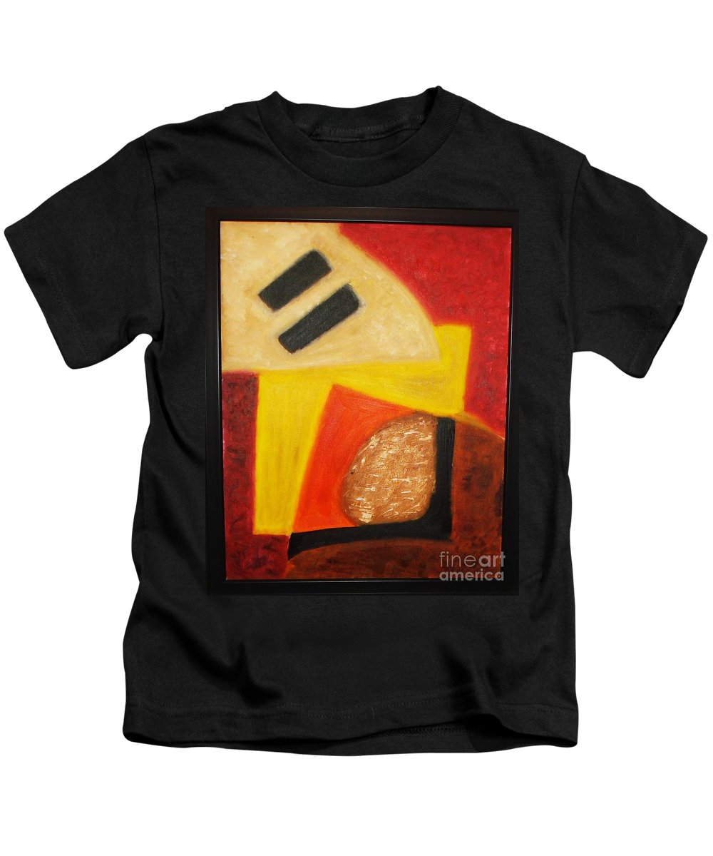 Oil Painting Kids T-Shirt featuring the painting Balance by Yael VanGruber