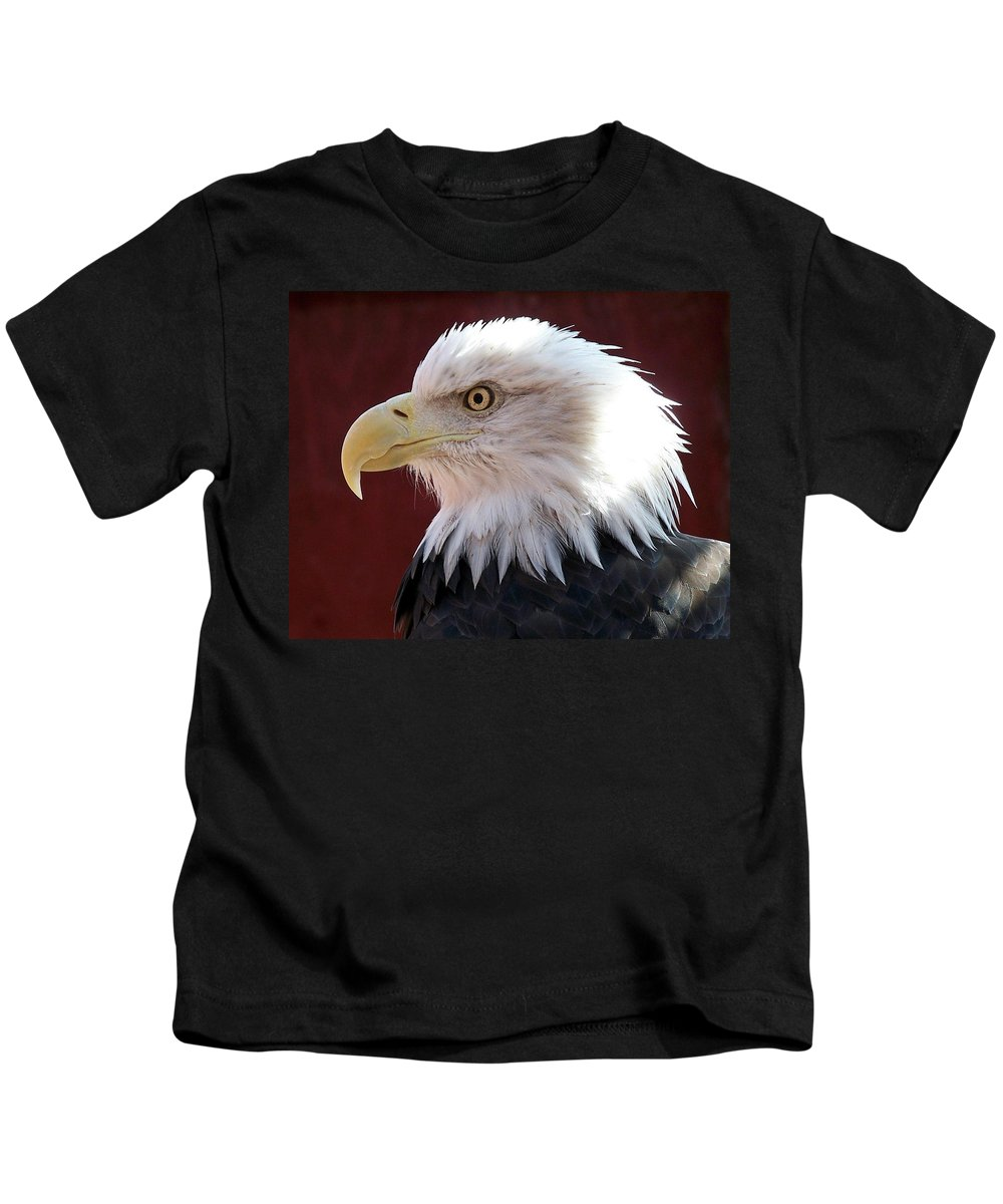 Animal Kids T-Shirt featuring the photograph Bald Eagle by Ernie Echols
