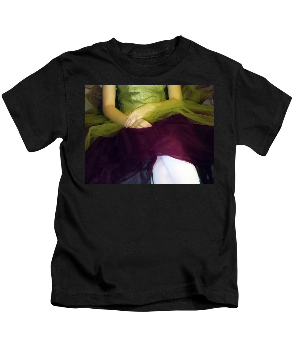 Abstract Kids T-Shirt featuring the photograph Ballerina Lap by Angelina Tamez