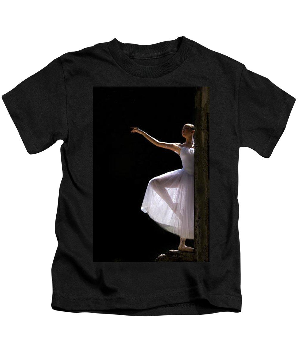 Ballet Dancer Kids T-Shirt featuring the photograph Ballet Dancer6 by George Cabig