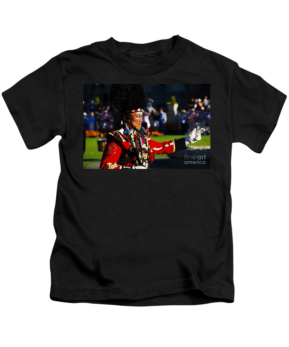 Band Leader Kids T-Shirt featuring the photograph Band Leader by David Lee Thompson
