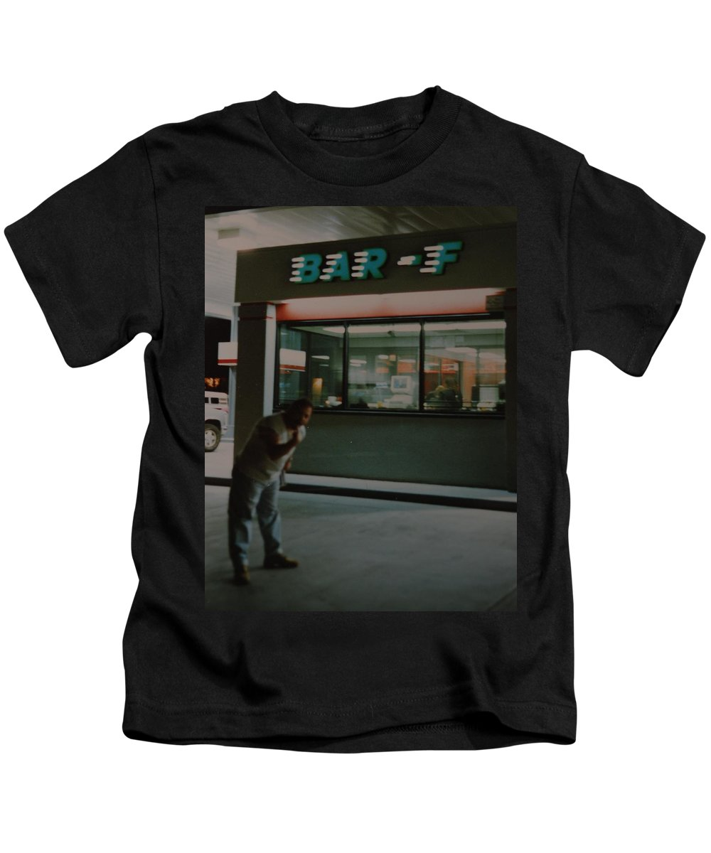 Funny Kids T-Shirt featuring the photograph Bar F by Rob Hans