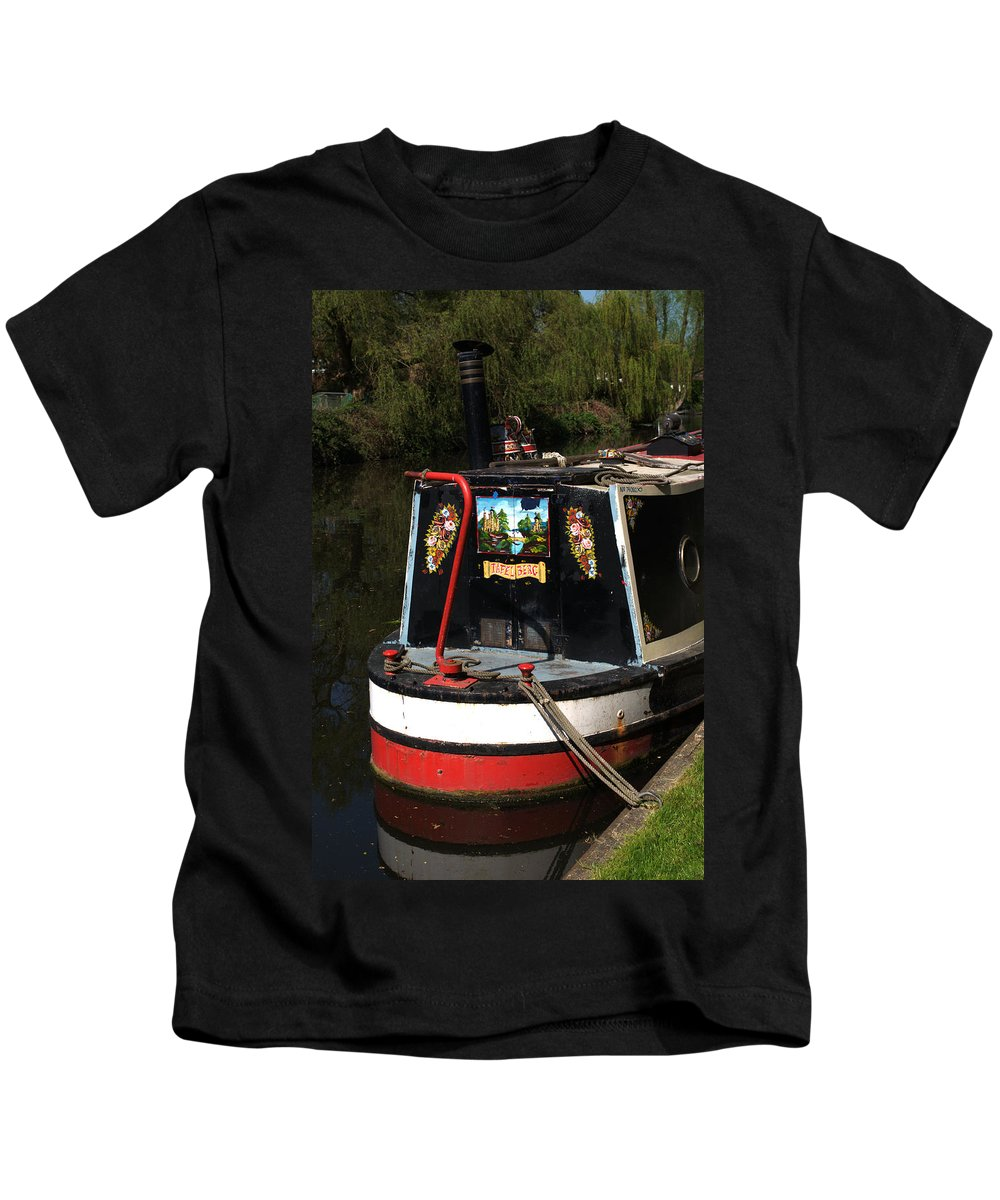 Barge Art Kids T-Shirt featuring the photograph Barge Art by Chris Day