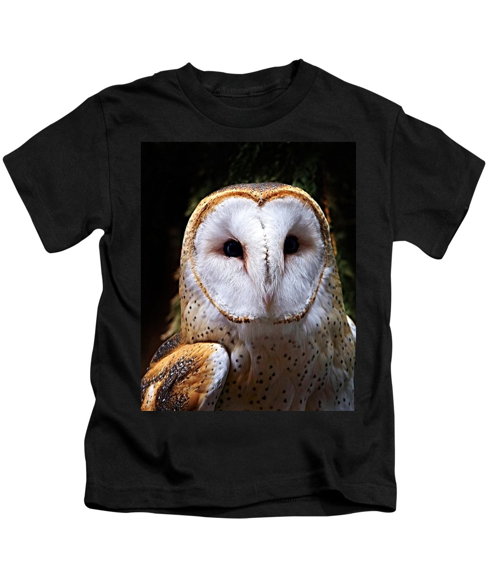 Barn Owl Kids T-Shirt featuring the photograph Barn Owl by Anthony Jones