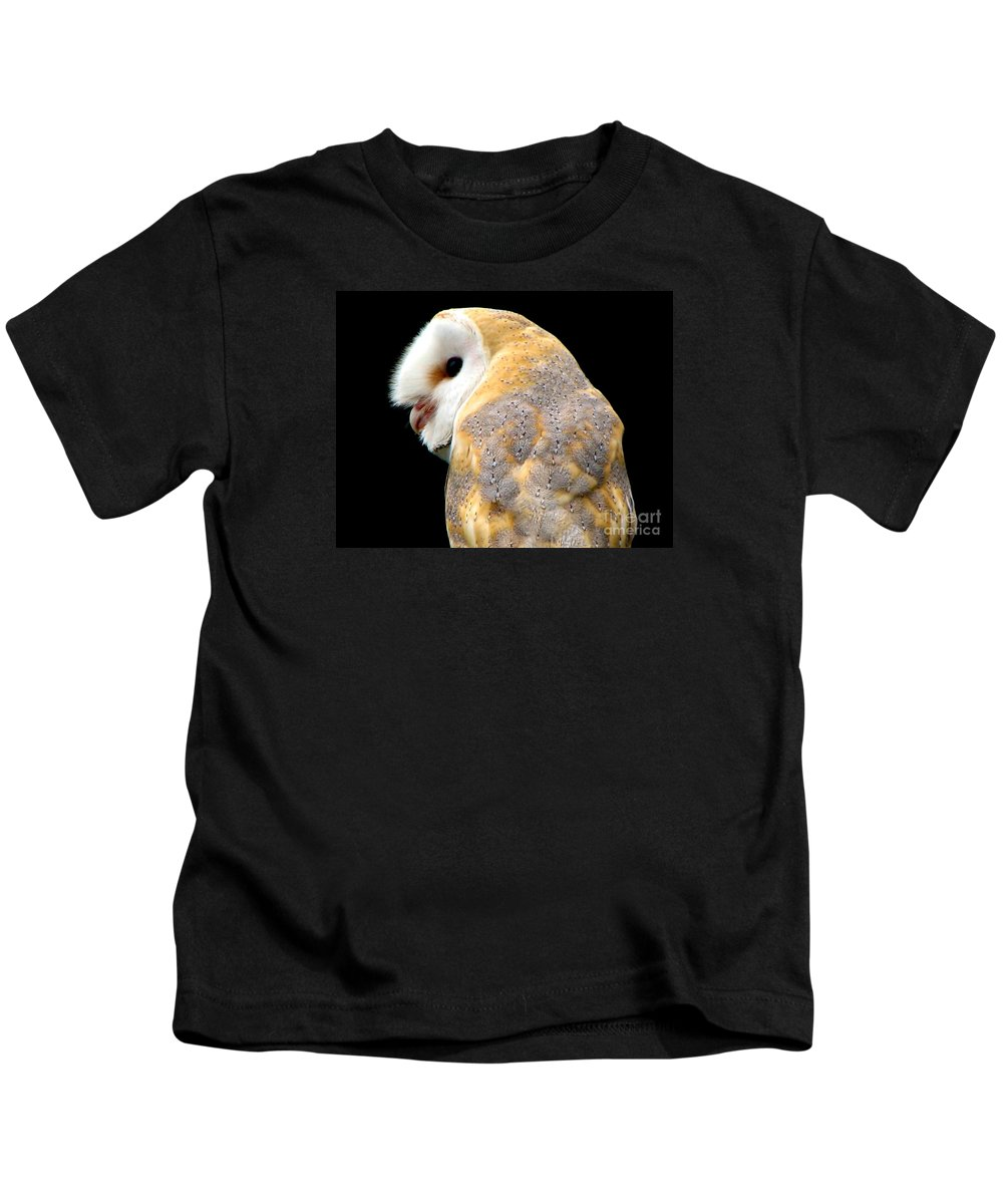 Birds Kids T-Shirt featuring the photograph Barn Owl by Rose Santuci-Sofranko