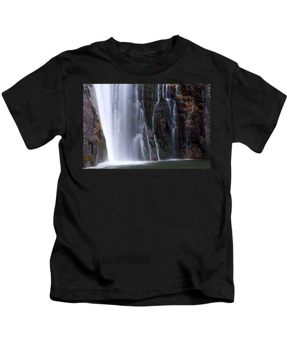 Porcupine Falls Kids T-Shirt featuring the photograph Base Of Porcupine Falls by Larry Ricker