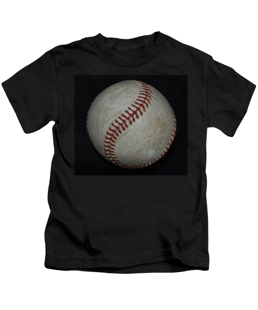 Pop Art Kids T-Shirt featuring the photograph Baseball by Rob Hans