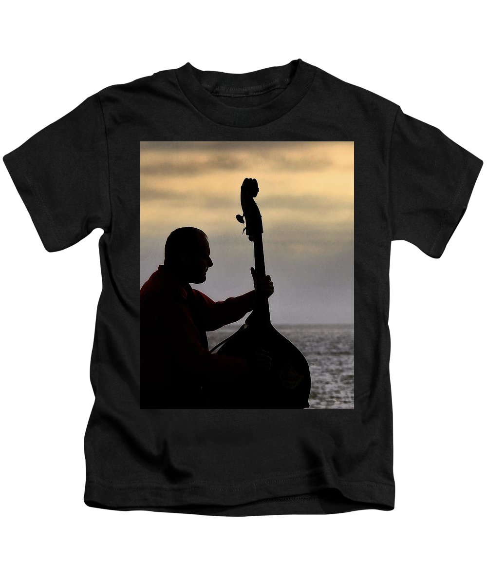 Silhouette Kids T-Shirt featuring the photograph Bass Silhouette by Greg Kear