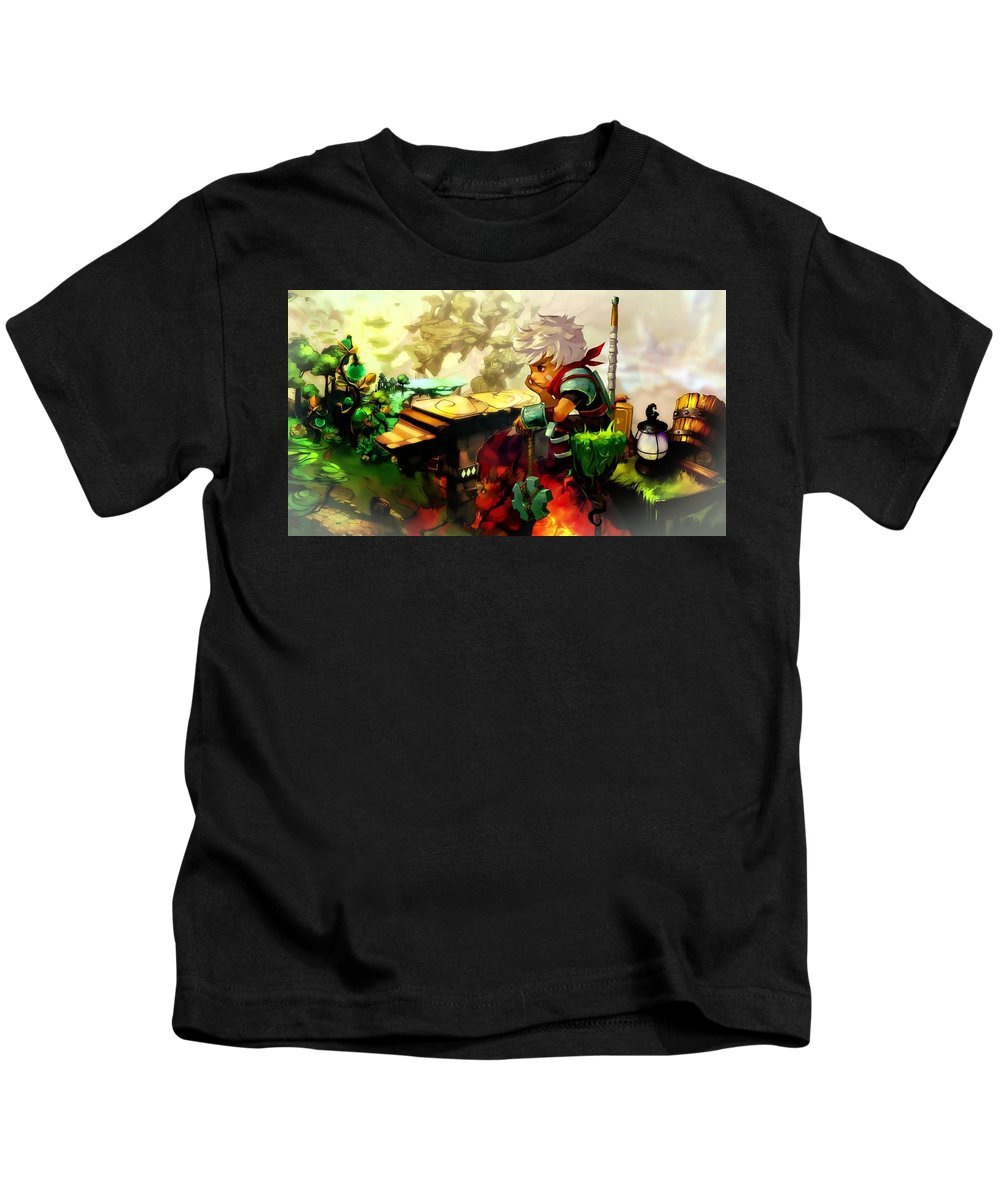 Bastion Kids T-Shirt featuring the digital art Bastion by Dorothy Binder
