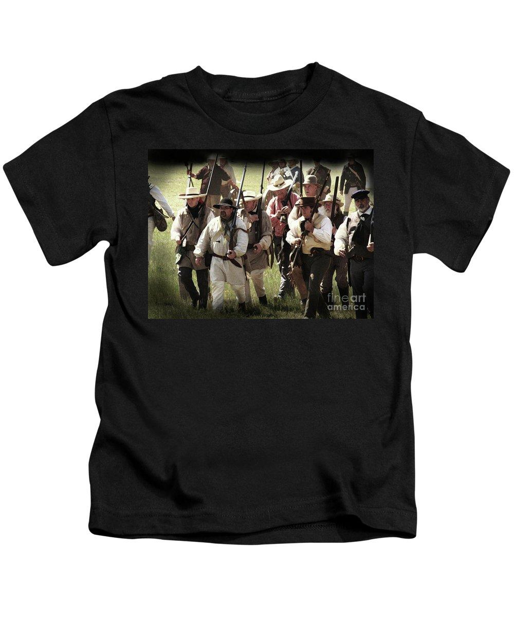 Re-enactment Of San Jacinto Kids T-Shirt featuring the photograph Battle Of San Jacinto by Kim Henderson