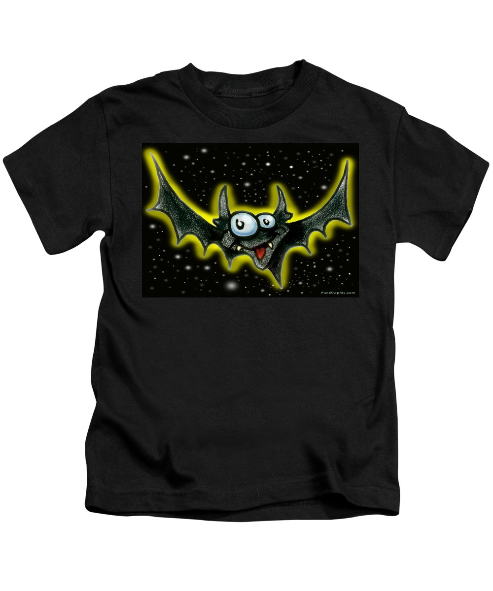Bat Kids T-Shirt featuring the greeting card Batty by Kevin Middleton