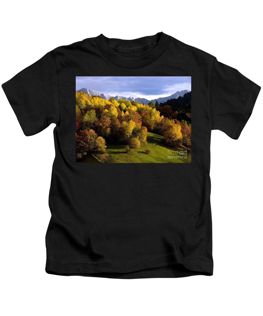 Mountains Kids T-Shirt featuring the photograph Bavarian Alps 2 by Randy Matthews