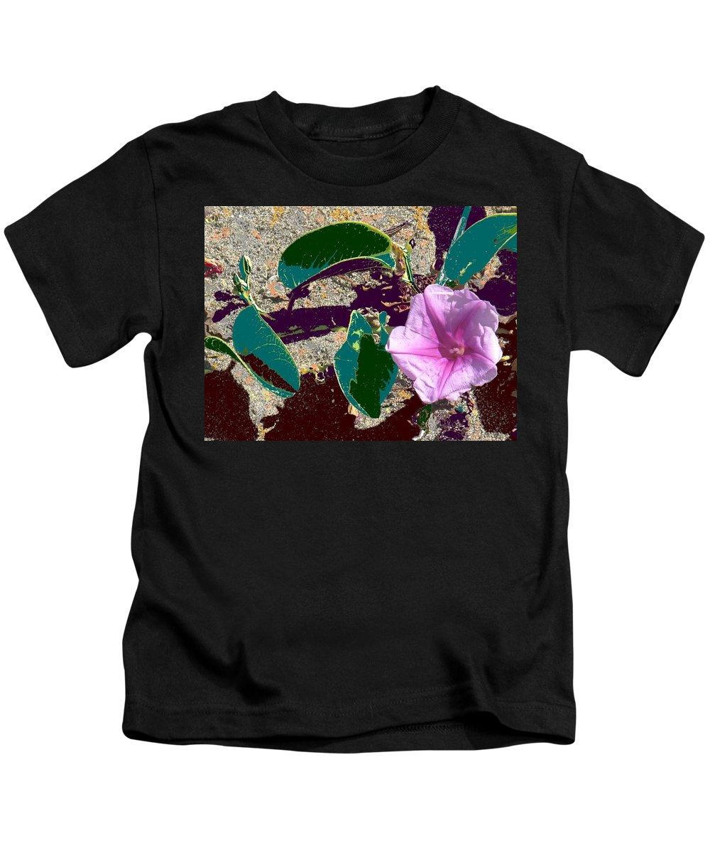 Beach Kids T-Shirt featuring the photograph Beach Flower by Ian MacDonald