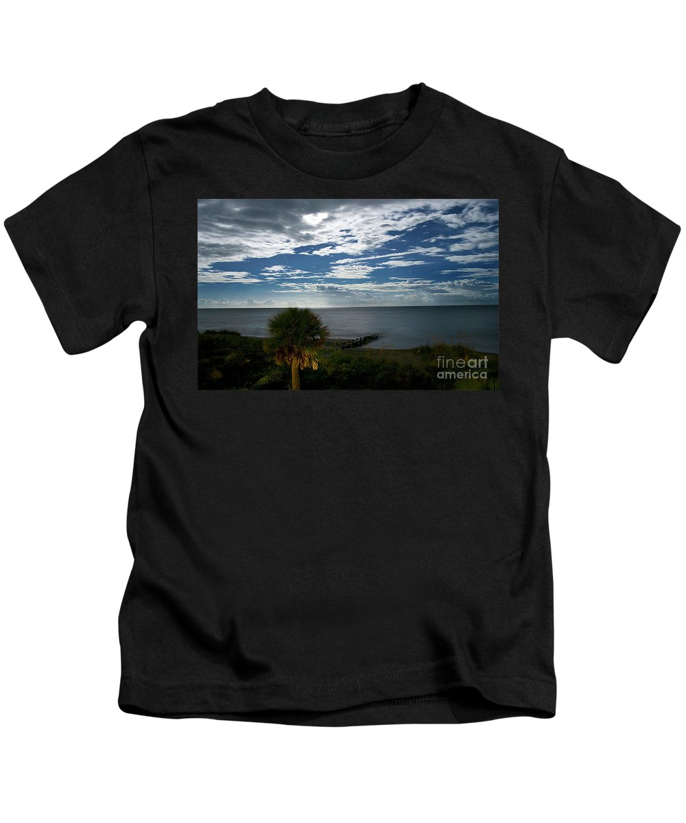 Maritime Kids T-Shirt featuring the photograph Beach Front Property by Skip Willits