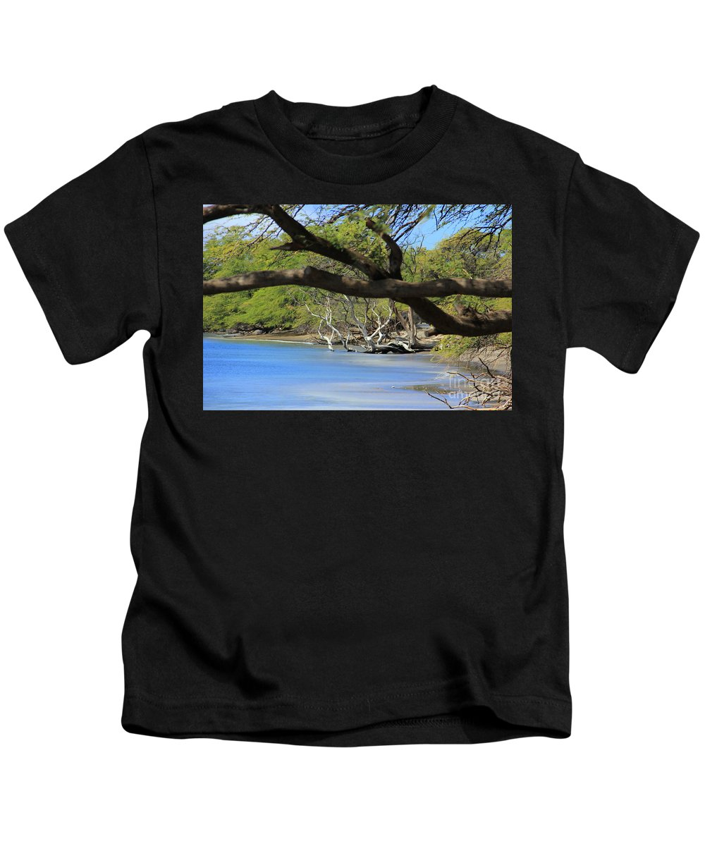 Maui Kids T-Shirt featuring the photograph Beachcombing by Carol Komassa