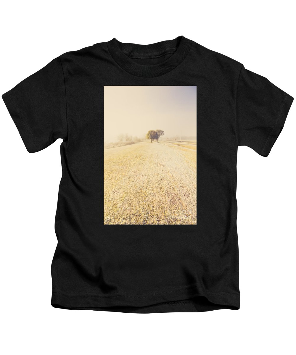 Snowing Kids T-Shirt featuring the photograph Beauty In A Snow Capped Landscape by Jorgo Photography - Wall Art Gallery