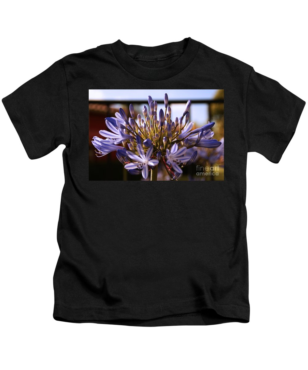 Floral Kids T-Shirt featuring the photograph Becoming Beautiful by Linda Shafer