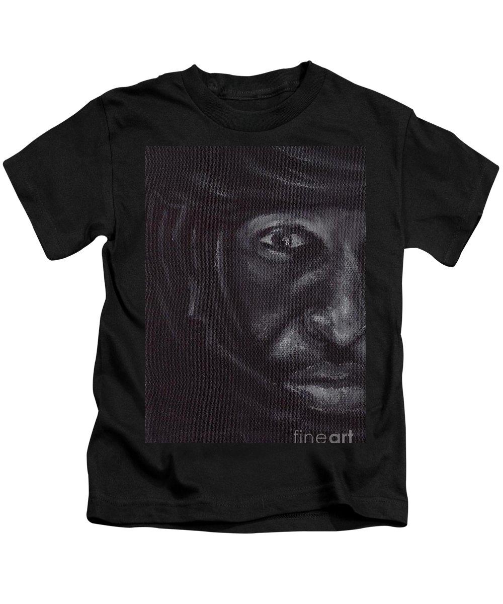 Bedouin Kids T-Shirt featuring the painting Bedouin by Annemeet Hasidi- van der Leij