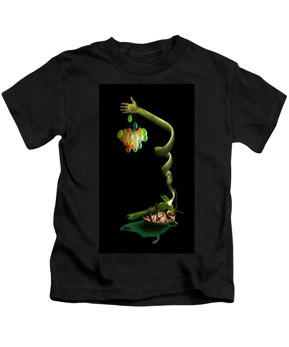 Beetle Kids T-Shirt featuring the photograph Beetle On His Back by Johan Bollen